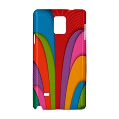 Modern Abstract Colorful Stripes Wallpaper Background Samsung Galaxy Note 4 Hardshell Case by Amaryn4rt
