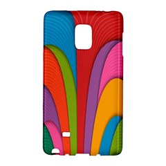Modern Abstract Colorful Stripes Wallpaper Background Galaxy Note Edge by Amaryn4rt