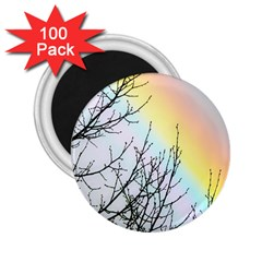 Rainbow Sky Spectrum Rainbow Colors 2 25  Magnets (100 Pack)  by Amaryn4rt