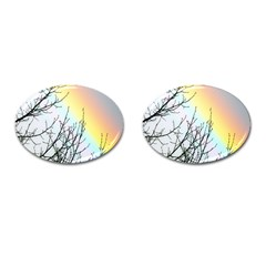 Rainbow Sky Spectrum Rainbow Colors Cufflinks (oval) by Amaryn4rt