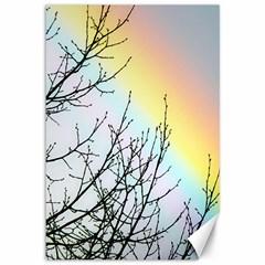 Rainbow Sky Spectrum Rainbow Colors Canvas 12  X 18   by Amaryn4rt