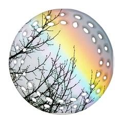 Rainbow Sky Spectrum Rainbow Colors Ornament (round Filigree) by Amaryn4rt