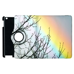Rainbow Sky Spectrum Rainbow Colors Apple Ipad 2 Flip 360 Case by Amaryn4rt