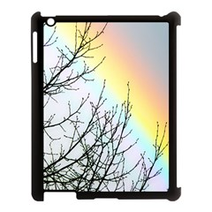 Rainbow Sky Spectrum Rainbow Colors Apple Ipad 3/4 Case (black) by Amaryn4rt