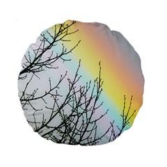 Rainbow Sky Spectrum Rainbow Colors Standard 15  Premium Round Cushions by Amaryn4rt