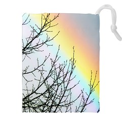 Rainbow Sky Spectrum Rainbow Colors Drawstring Pouches (xxl) by Amaryn4rt