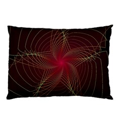 Fractal Red Star Isolated On Black Background Pillow Case (two Sides) by Amaryn4rt