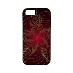 Fractal Red Star Isolated On Black Background Apple Iphone 5 Classic Hardshell Case (pc+silicone) by Amaryn4rt