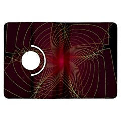 Fractal Red Star Isolated On Black Background Kindle Fire Hdx Flip 360 Case by Amaryn4rt