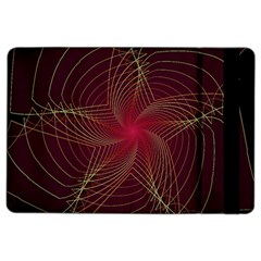 Fractal Red Star Isolated On Black Background Ipad Air 2 Flip by Amaryn4rt