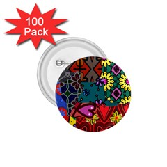 Digitally Created Abstract Patchwork Collage Pattern 1 75  Buttons (100 Pack)  by Amaryn4rt