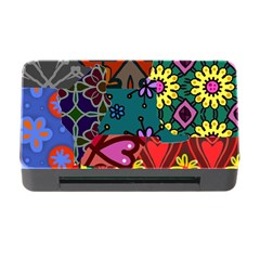 Digitally Created Abstract Patchwork Collage Pattern Memory Card Reader With Cf by Amaryn4rt