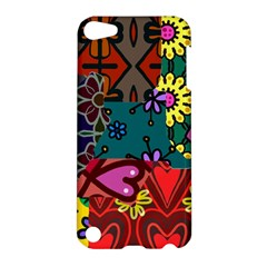 Digitally Created Abstract Patchwork Collage Pattern Apple Ipod Touch 5 Hardshell Case by Amaryn4rt