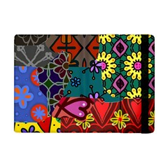 Digitally Created Abstract Patchwork Collage Pattern Apple Ipad Mini Flip Case by Amaryn4rt