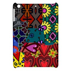 Digitally Created Abstract Patchwork Collage Pattern Apple Ipad Mini Hardshell Case by Amaryn4rt