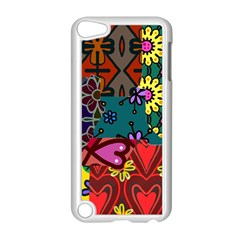 Digitally Created Abstract Patchwork Collage Pattern Apple Ipod Touch 5 Case (white) by Amaryn4rt