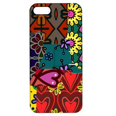 Digitally Created Abstract Patchwork Collage Pattern Apple Iphone 5 Hardshell Case With Stand by Amaryn4rt