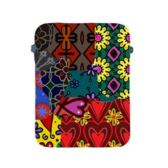 Digitally Created Abstract Patchwork Collage Pattern Apple Ipad 2/3/4 Protective Soft Cases by Amaryn4rt