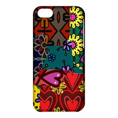 Digitally Created Abstract Patchwork Collage Pattern Apple Iphone 5c Hardshell Case by Amaryn4rt