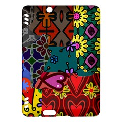 Digitally Created Abstract Patchwork Collage Pattern Kindle Fire Hdx Hardshell Case by Amaryn4rt