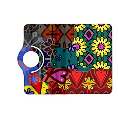 Digitally Created Abstract Patchwork Collage Pattern Kindle Fire Hd (2013) Flip 360 Case by Amaryn4rt