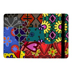 Digitally Created Abstract Patchwork Collage Pattern Samsung Galaxy Tab Pro 10 1  Flip Case by Amaryn4rt