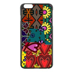 Digitally Created Abstract Patchwork Collage Pattern Apple Iphone 6 Plus/6s Plus Black Enamel Case by Amaryn4rt