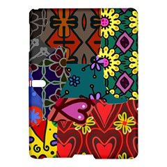 Digitally Created Abstract Patchwork Collage Pattern Samsung Galaxy Tab S (10 5 ) Hardshell Case  by Amaryn4rt