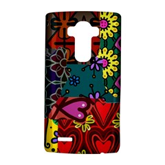 Digitally Created Abstract Patchwork Collage Pattern Lg G4 Hardshell Case by Amaryn4rt