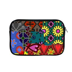Digitally Created Abstract Patchwork Collage Pattern Apple Macbook Pro 13  Zipper Case by Amaryn4rt