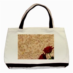 Retro Background Scrapbooking Paper Basic Tote Bag by Amaryn4rt
