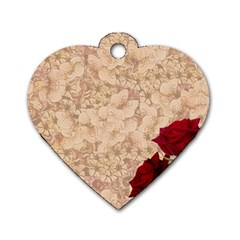 Retro Background Scrapbooking Paper Dog Tag Heart (two Sides) by Amaryn4rt