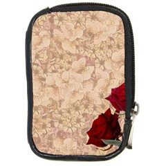 Retro Background Scrapbooking Paper Compact Camera Cases by Amaryn4rt