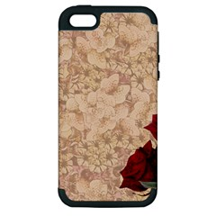 Retro Background Scrapbooking Paper Apple Iphone 5 Hardshell Case (pc+silicone) by Amaryn4rt