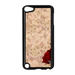 Retro Background Scrapbooking Paper Apple Ipod Touch 5 Case (black) by Amaryn4rt