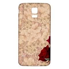 Retro Background Scrapbooking Paper Samsung Galaxy S5 Back Case (white) by Amaryn4rt