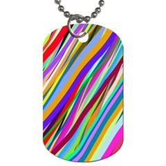 Multi Color Tangled Ribbons Background Wallpaper Dog Tag (one Side) by Amaryn4rt