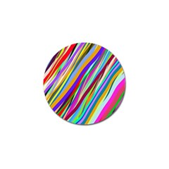 Multi Color Tangled Ribbons Background Wallpaper Golf Ball Marker (4 Pack)