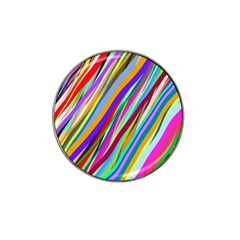 Multi Color Tangled Ribbons Background Wallpaper Hat Clip Ball Marker (10 Pack) by Amaryn4rt
