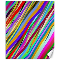 Multi Color Tangled Ribbons Background Wallpaper Canvas 8  X 10  by Amaryn4rt