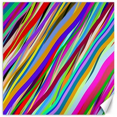 Multi Color Tangled Ribbons Background Wallpaper Canvas 16  X 16   by Amaryn4rt