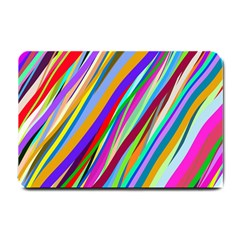 Multi Color Tangled Ribbons Background Wallpaper Small Doormat  by Amaryn4rt