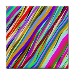 Multi Color Tangled Ribbons Background Wallpaper Face Towel by Amaryn4rt