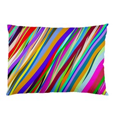 Multi Color Tangled Ribbons Background Wallpaper Pillow Case by Amaryn4rt