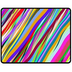 Multi Color Tangled Ribbons Background Wallpaper Fleece Blanket (medium)  by Amaryn4rt