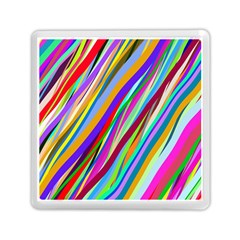 Multi Color Tangled Ribbons Background Wallpaper Memory Card Reader (square)  by Amaryn4rt