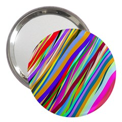 Multi Color Tangled Ribbons Background Wallpaper 3  Handbag Mirrors by Amaryn4rt