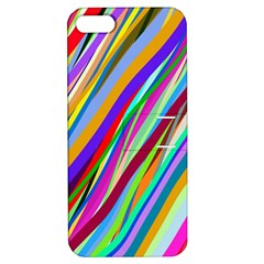 Multi Color Tangled Ribbons Background Wallpaper Apple Iphone 5 Hardshell Case With Stand by Amaryn4rt