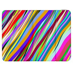 Multi Color Tangled Ribbons Background Wallpaper Samsung Galaxy Tab 7  P1000 Flip Case by Amaryn4rt