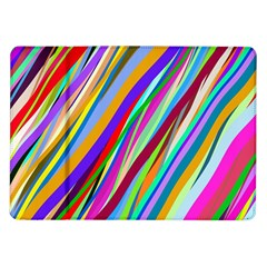 Multi Color Tangled Ribbons Background Wallpaper Samsung Galaxy Tab 10 1  P7500 Flip Case by Amaryn4rt